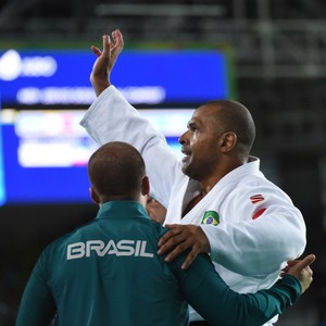 Gwanggeun Choi (COR) x Antônio Tenório (BRA) - final 100kg judô paralimpíada rio 2016 (Foto: André Durão)