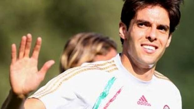 Kaká treino Milan (Foto: Reprodução Site oficial Milan)