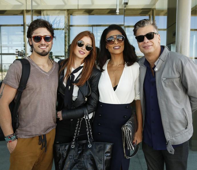 Daniel Rocha, Marina Ruy Barbosa, Juliana Paes e Fábio Assunção posam para o Gshow (Foto: Chico Couto/Gshow)