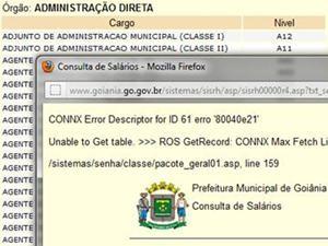 Portal Transparência Goiânia (Foto: Reprodução/Internet)