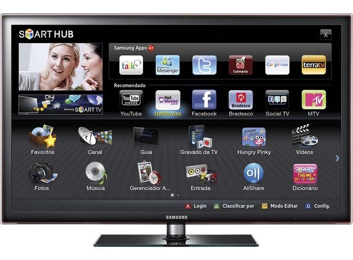 TV da Samsung é bem avançada (Foto: Divulgação/Samsung) (Foto: TV da Samsung é bem avançada (Foto: Divulgação/Samsung))