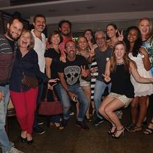 Elenco e equipe assistiram  ao último capítulo juntos! (Felipe Monteiro/Gshow)