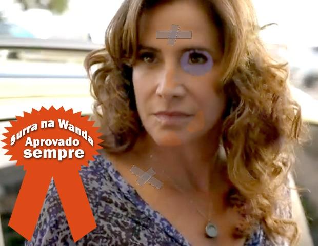 Wanda esculachada (Foto: Salve Jorge / TV Globo)