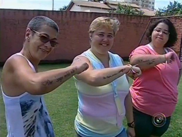 Tatuagem doação medula óssea (Foto: Reprodução TV TEM)
