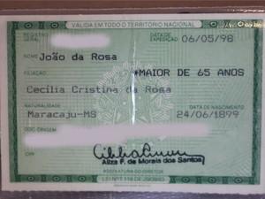Registro só foi possível com informações da família do ex-patrão (Foto: Gabriela Pavão/G1 MS)