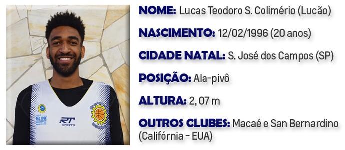 Lucão São José Basquete (Foto: Arte GloboEsporte.com)