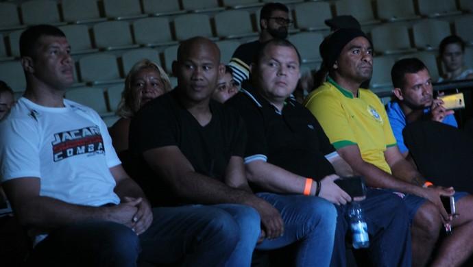 Ronaldo Jacaré acompanhou evento de luta em Manaus (Foto: Marcos Dantas)