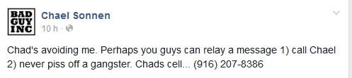 Sonnen no puede hablar con Chad y publica número de celular del luchador