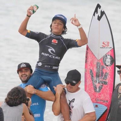 Lucas Vicente surfista (Foto: Divulgação/Rip Curl Grom Search)