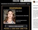 Vítor Belfort lembra aniversário de 42 anos da irmã Priscila, desaparecida