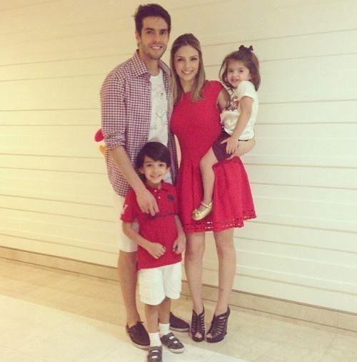 Kaká, Carol Celico e filhos (Foto: Reprodução_Instagram)