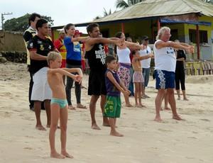 Natação no Mar, turma do Conde (Foto: Divulgação / Prefeitura do Conde)