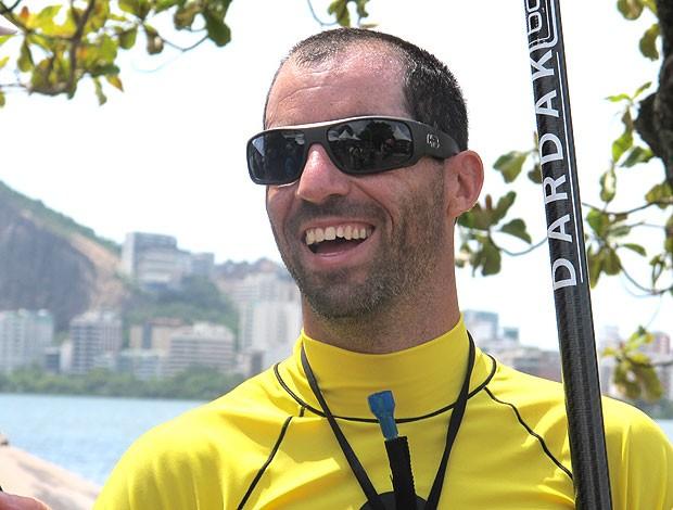 Luis Carlos Guida vence stand up paddle no Rocky Man (Foto: Ana Carolina Fontes / Globoesporte.com)