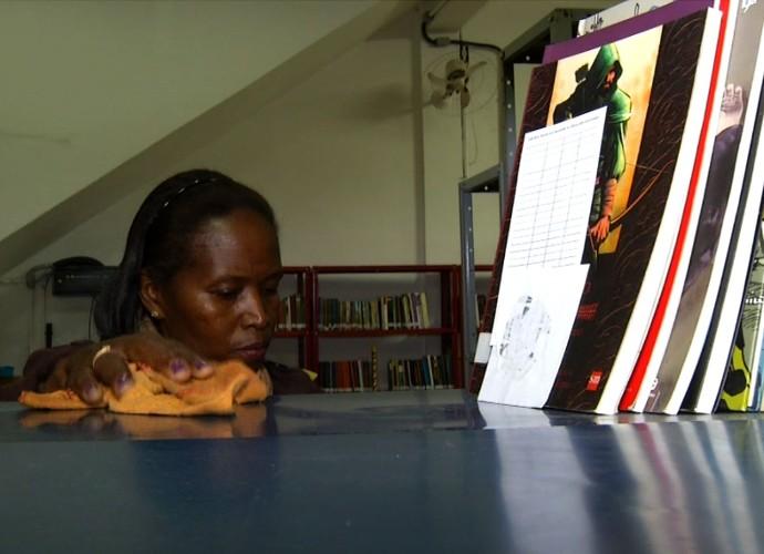 Por influência da FLIP, Clélia de Oliveira agora estuda pedagogia (Foto: Reprodução/ Rio Sul Revista)
