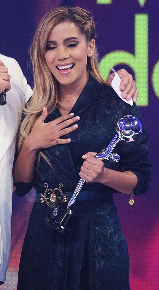 Anitta no programa do Faustão (Foto: TV Globo/Alex Carvalho)