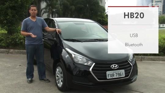 Hyundai HB20: G1 avalia central multimídia