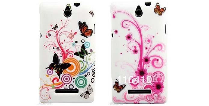 Capa protetora com estampa de borboletas para smartphone Xperia E (Foto: Reprodução/AliExpress)