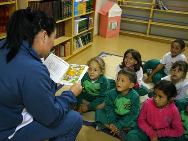 Escola de Educação Básica América Machado, em Florianópolis (Foto: José Bittar)