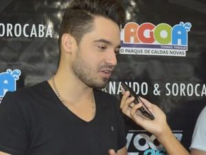 Fernando comentou a intenção da gravação de um DVD durante turnê (Foto: Rafaella Mendes/G1)