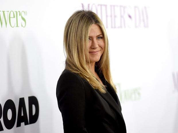 Jennifer Aniston em première de filme em Los Angeles, nos Estados Unidos (Foto: Kevin Winter/ Getty Images/ AFP)