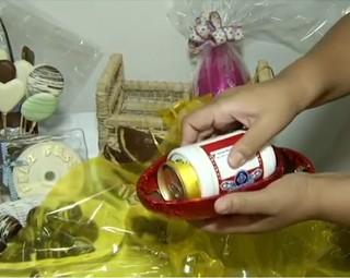 A nova moda deste ano, é o ovo com cerveja no centro (Foto: Reprodução RJTV 2ª Edição)