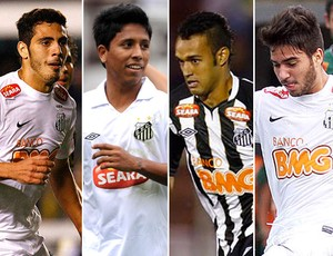 montagem jogadores Santos Dimba, Crystian, Anderson Carvalho e Breitner (Foto: Editoria de Arte / Globoesporte.com)