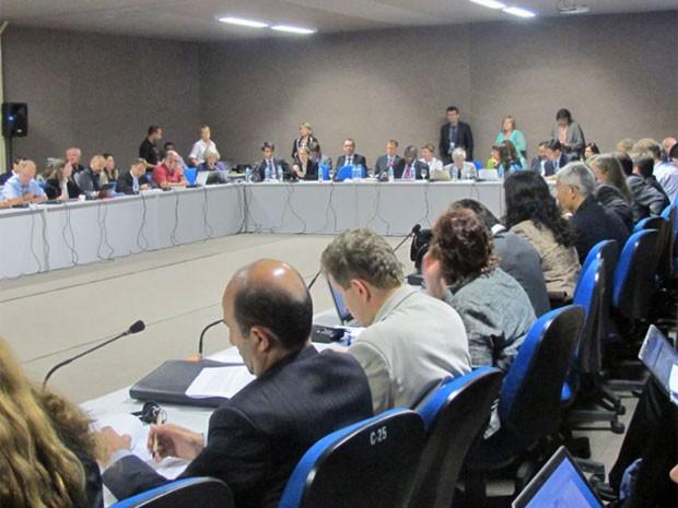 Uma das salas de negociações da Rio+20 (Foto: Giovana Sanchez/G1)