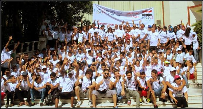 Mesmo em meio ao caos, a Síria organizou o dia olímpico em 2015 (Foto: Divulgação/Comitê olímpico da Síria)