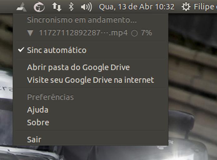 overGrive oferece interface gráfica e sincronismo com o Google Drive (Foto: Reprodução/Filipe Garrett)