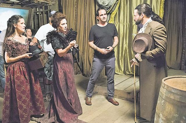Ingrid Guimarães gravam 'Novo Mundo' (Foto: João Miguel Júnior/Globo)