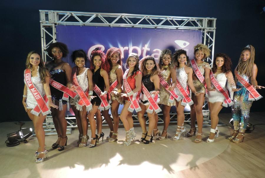 As doze candidatas do concurso Garota do Samba (Foto: Ismael Inoch)
