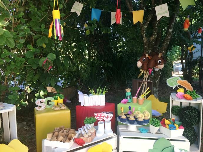 Mistura mostrou dicas de decoração pra festa junina (Foto: RBS TV/Divulgação )