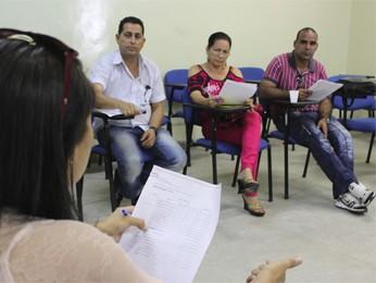 Três médicos estrangeiros participaram de uma oficina em João Pessoa (Foto: Ricardo Puppe/G1)