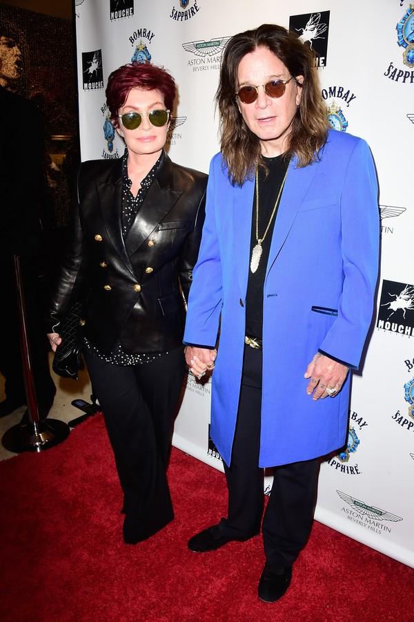 O músico Ozzy Osbourne e sua esposa, Sharon (Foto: Getty Images)