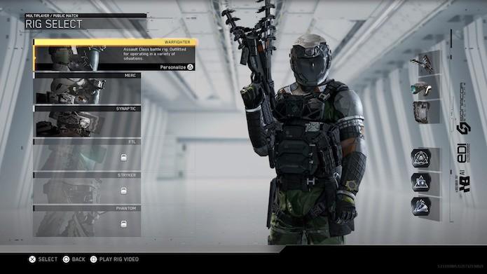 Call of Duty: Infinite Warfare: novas classes disponíveis no multiplayer (Foto: Reprodução/Victor Teixeira)
