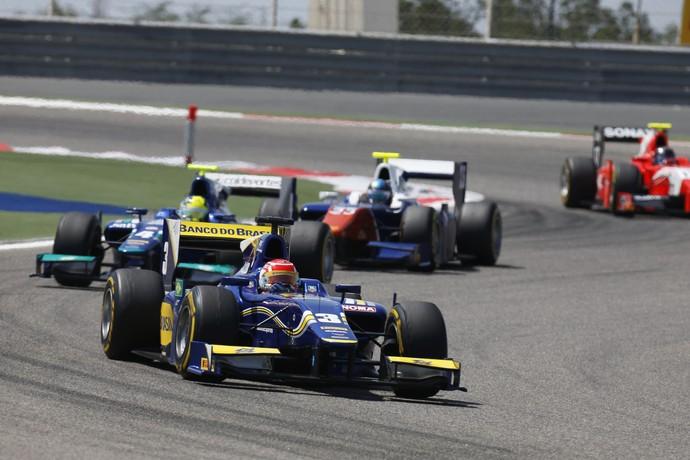 Felipe Nasr chegou em oitavo na corrida 1 da GP2 no Bahrein (Foto: Divulgação)
