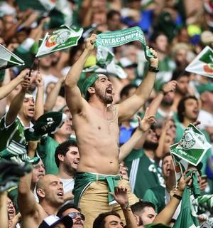Comemoração do Palmeiras (Foto: Marcos Ribolli)
