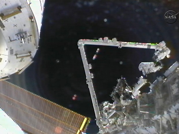 ISS (Foto: HO/Nasa TV/AFP)