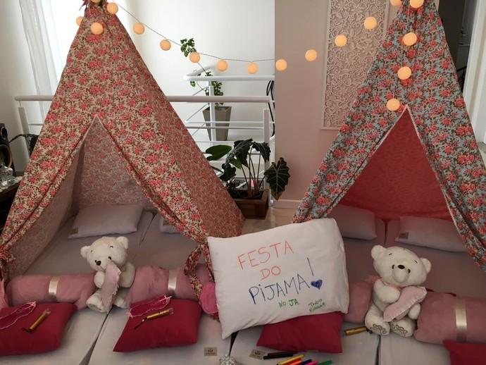 Mistura no JA mostrou opção de festa do pijama (Foto: RBS TV/Divulgação )