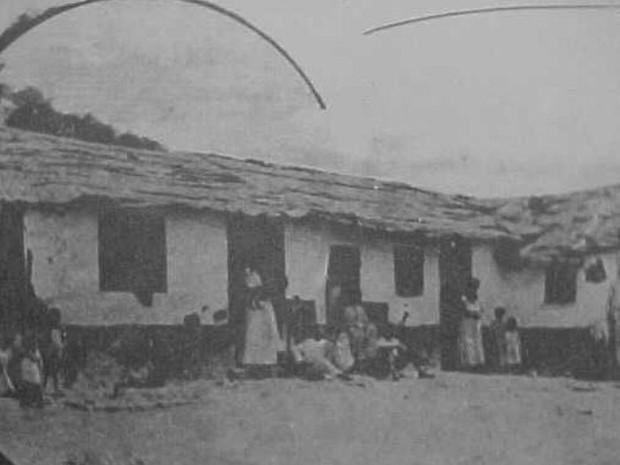 As primeiras casas no Morro da Providência em 1905 (Foto: Renascença)