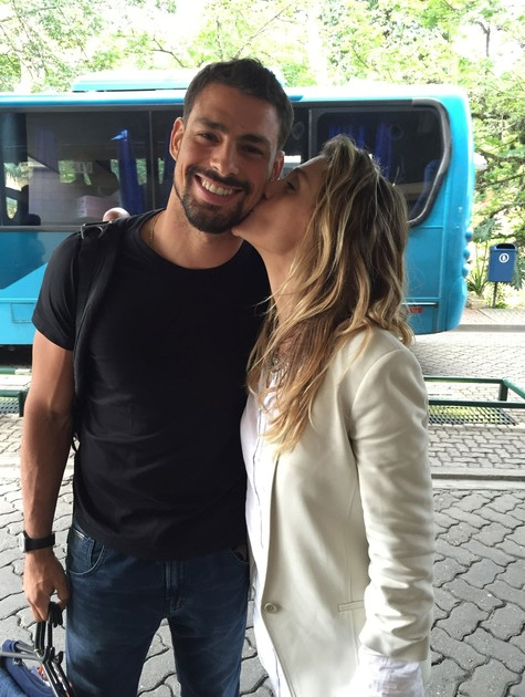 Cauã Reymond e Amora Mautner (Foto: TV Globo)