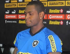 coletiva Jobson botafogo (Foto: André Casado / Globoesporte.com)