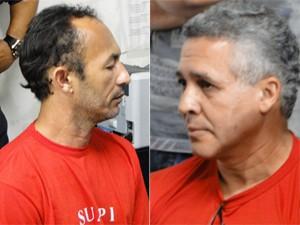Jailson de Oliveira e Marcos Aparecido dos Santos passam por acareação em Belo Horizonte. (Foto: Pedro Triginelli)