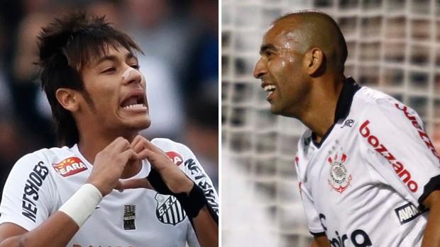 Neymar Santos Emerson Sheik Corinthians (Foto: Montagem sobre foto da Reuters)