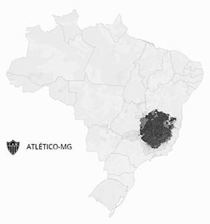 Mapa Atletico-mg (Foto: GloboEsporte.com)