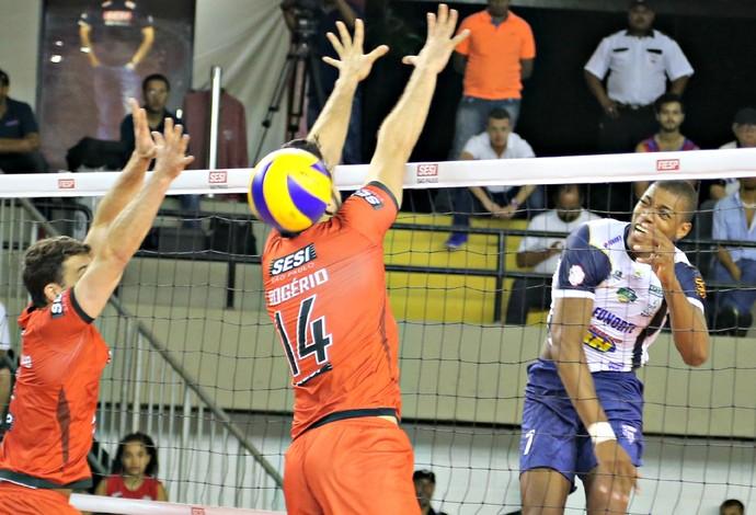 Sesi-SP e Montes Claros decidem jogo no tie-break (Foto: Lucas Dantas / Sesi-SP Divulgação)