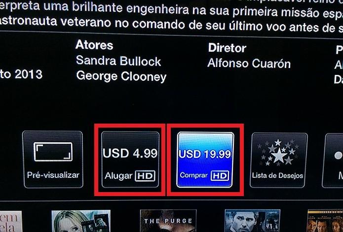 Alugando/comprando um filme na Apple TV (Foto: Reprodução/Edivaldo Brito)