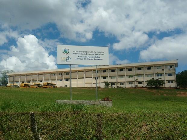 Centro de Humanidades do Campus III da UEPB, em Guarabira (Foto: Ewerton Douglas/Arquivo pessoal)