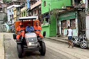 Após mutirão, Morro dos Macacos terá novo sistema de coleta de lixo (Reprodução / TV Globo)