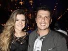 Grávida, Mirella Santos vai ao show de Bruno e Marrone, em São Paulo